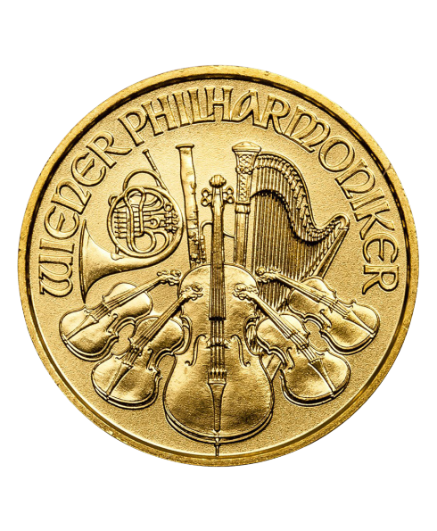 pièce or philharmonic 1/10 oz 2017 avers