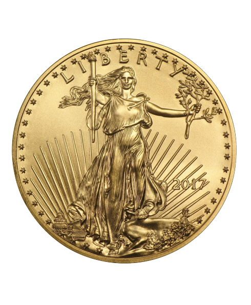 pièce or american Eagle 1 oz or avers