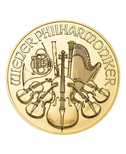 pièce or 1 oz Philharmonic avers