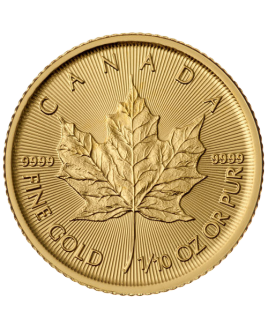 Maple Leaf 1/10 oz or 2018 - pièce d'or