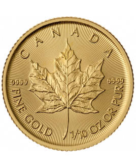 Maple Leaf 1/10 oz or 2020 - pièce d'or