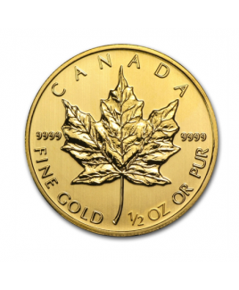 Maple Leaf 1/2 once or 2016 - pièce d'or