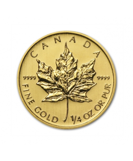 Maple Leaf 1/4oz or 2017 - pièce d'or